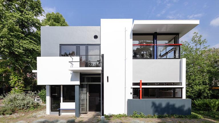 tabiques móviles en la Casa Rietveld Schröder
