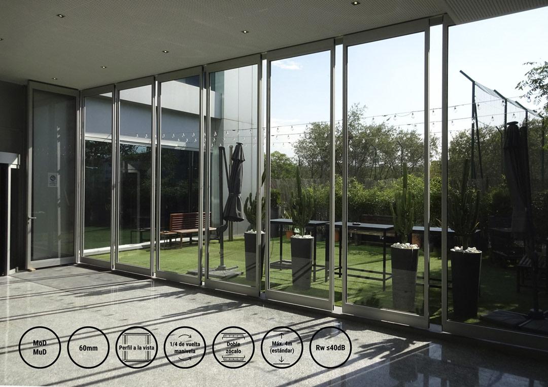 tabiques móviles acústicos tx-60.glass